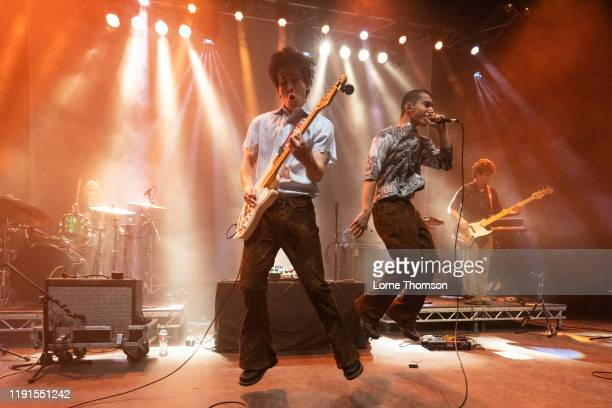 Sawyer Nunes and Jude Ciulla of Laundry Day perform at O2 Shepherd's Bush Empire on December 02 2019 in London England