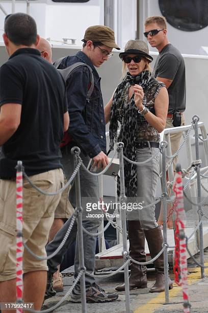 Sawyer Spielberg and Kate Capshaw seen on July 2 2011 in Portofino Italy