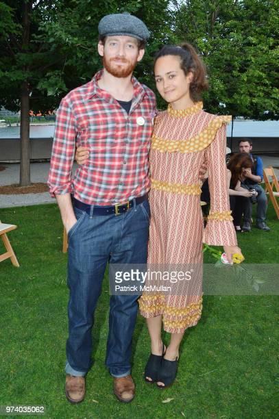 Sawyer Spielberg and Raye Levine attend the Franklin D Roosevelt Four Freedoms Park's gala honoring Founder Ambassador William J Vanden Heuvel at...