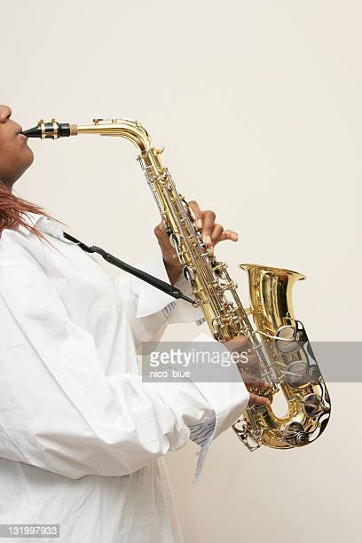 sax! - black hairy women stock pictures, royalty-free photos & images