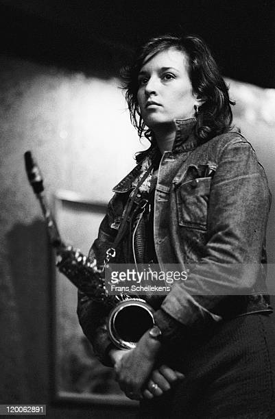Sax player Vera Vingerhoeds performs live on stage at the BIMhuis in Amsterdam, Netherlands on 27th October 1982.
