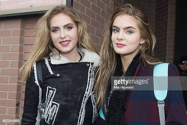 Saxon Sharbino and Brighten Sharbino attends the Tone It Up Wellness Lounge during the Sundance Film Festiva on January 21, 2017 in Park City, Utah.
