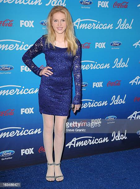 Saxon Sharbino arrives at the FOX's 'American Idol' Meet The Finalists Event at The Grove on March 7 2013 in Los Angeles California