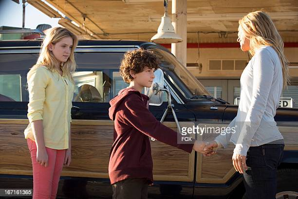 Saxon Sharbino David Mazouz and Maria Bello star in the 'Reunions' episode of TOUCH airing Friday March 22 2013 on FOX