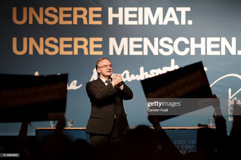 CDU Holds Final State Elections Rally In Saxony-Anhalt : News Photo