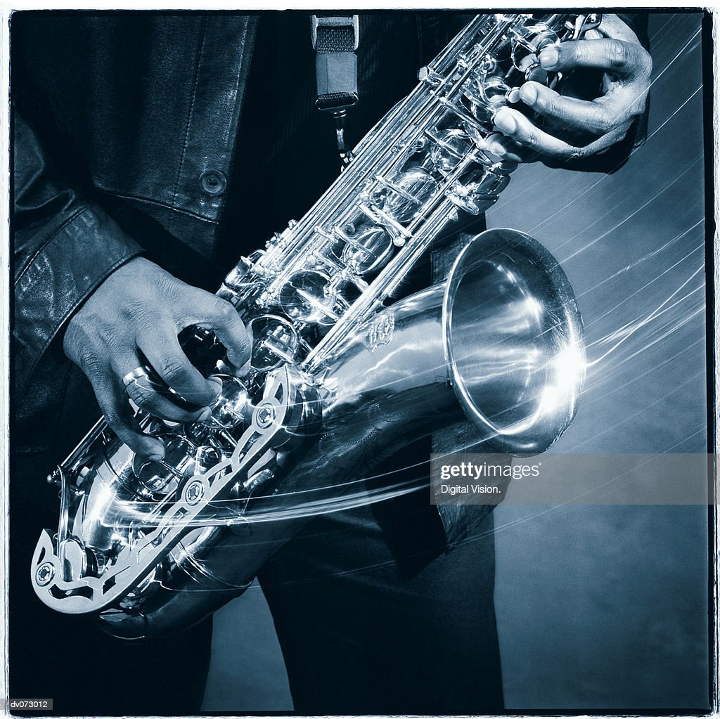 Saxophone in motion : Stock Photo