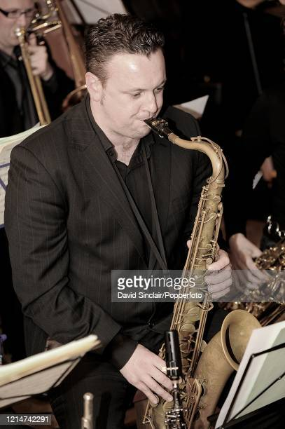 Saxophone player Nicholas Blake performs live on stage at Spice of Life Jazz Club in Soho London on 3rd December 2009