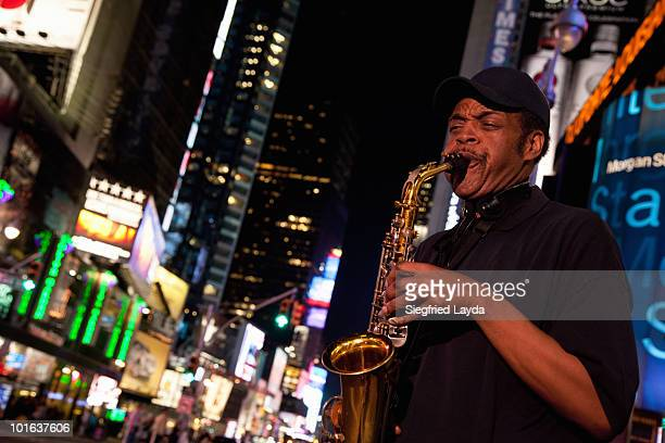 Saxophone Player on Broadway
