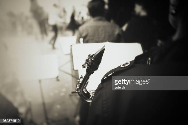 Saxophonspieler auf der Bühne