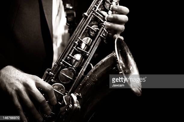 saxophone player - jazz stock pictures, royalty-free photos & images