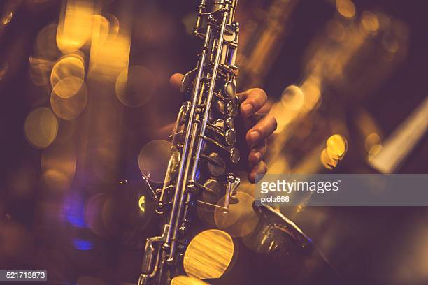 saxophone players - jazz stock pictures, royalty-free photos & images