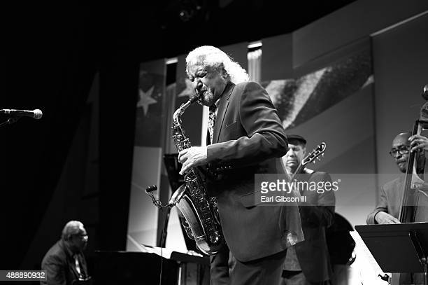 Saxophonist Gary Bartz performs at the 30th Anniversary Jazz Concert Celebration at Walter E Washington Convention Center on September 17 2015 in...