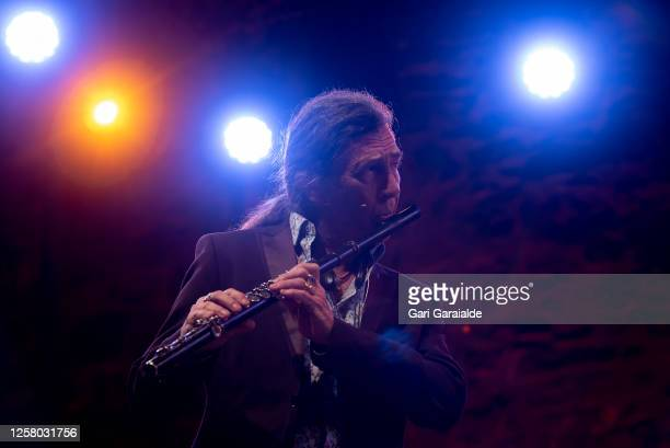 Saxophonist Jorge Pardo performs on stage during 55th edition of the Heineken Jazzaldia Festival on July 24 2020 in San Sebastian Spain This year the...