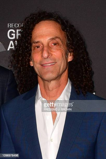 US saxophonist Kenny G arrives for the traditional Clive Davis party on the eve of the 61th Annual Grammy Awards at the Beverly Hilton hotel in...