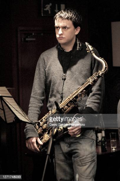 Saxophonist Mark Hanslip performs live on stage at Octave in Covent Garden London on 5th January 2009
