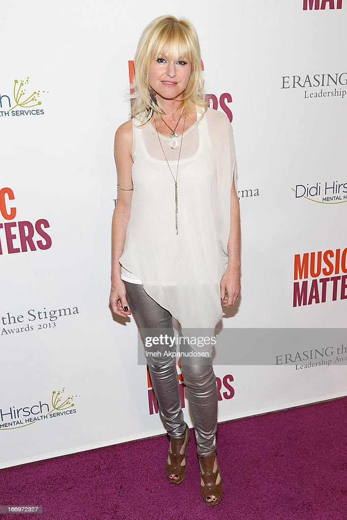 Saxophonist Mindi Abair attends the 'Music Matters' 17th Annual Erasing The Stigma Awards Luncheon Presented By Didi Hirsch Mental Health Services at The Beverly Hilton Hotel on April 18, 2013 in Beverly Hills, California.