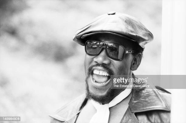 Saxophonist performer and member of Bruce Springsteen's E Street Band Clarence Clemons poses for a portrait on October 17 1979 in Holmdel New Jersey