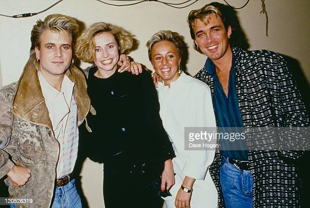 Saxophonist Steve Norman and bassist Martin Kemp of British pop group Spandau Ballet 1985 Kemp is with his wife singer Shirlie Holliman of Pepsi...