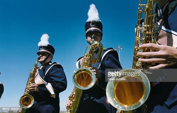 Saxophonists in Marching Band