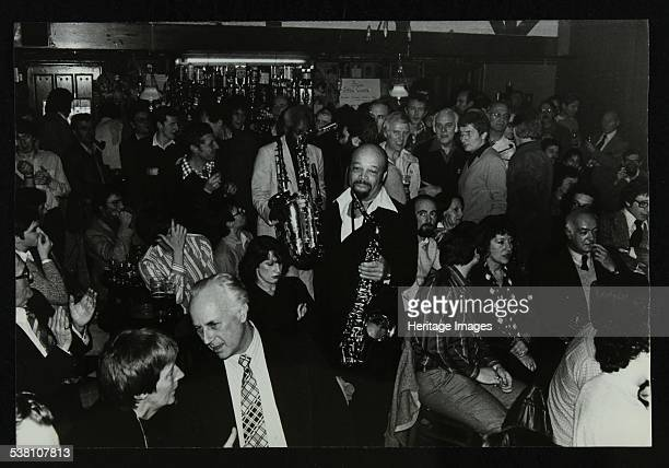 Saxophonists Red Holloway and Sonny Stitt at The Bell Codicote Hertfordshire 24 November 1980 Artist Denis Williams