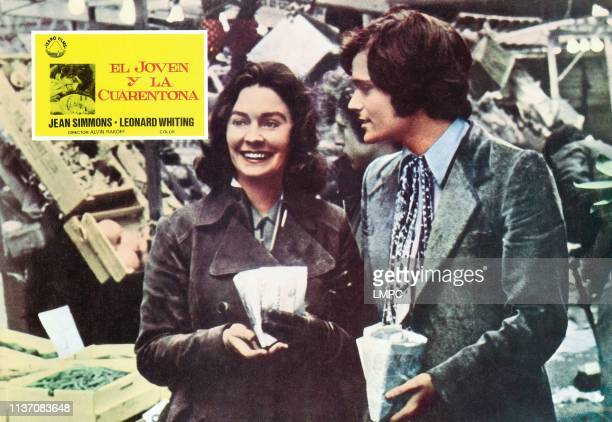 Say Hello To Yesterday lobbycard form left Jean Simmons Leonard Whiting 1971
