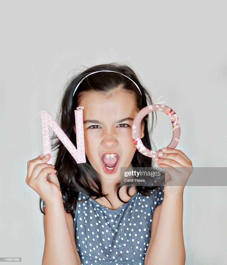 Say NO! : Stock Photo