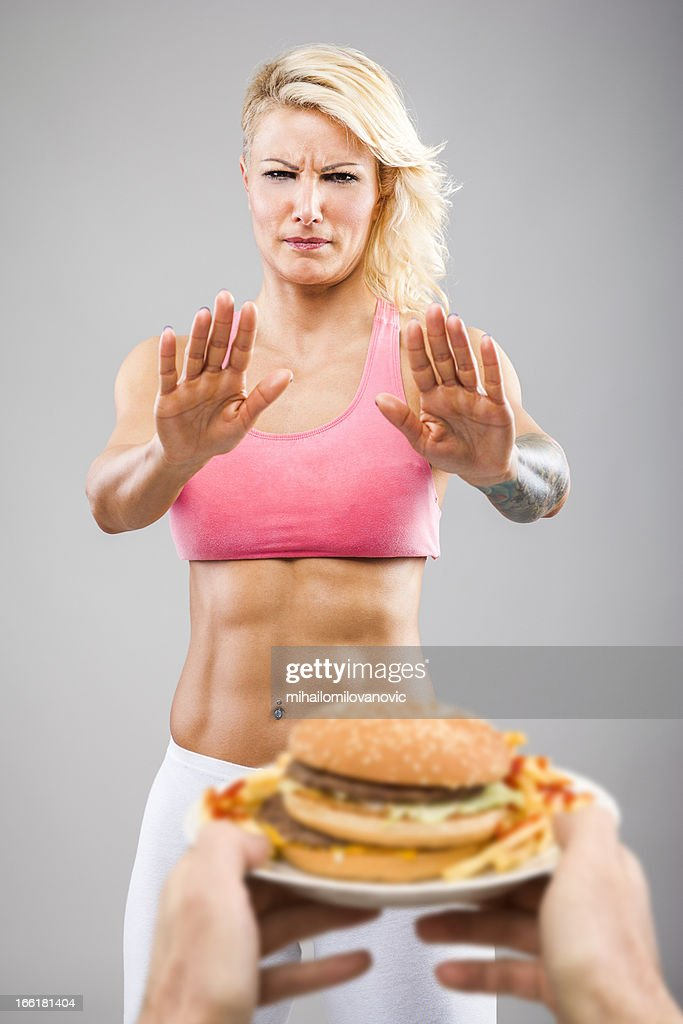 Say Quotnoquot To Junk Food Stock Photo - Getty Images