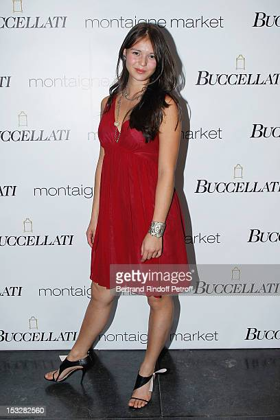 Saya Buccellati attends the Buccellati Blossom Butterfly and Daisy new collection presentation with the 4th generation of the Buccellati family at...