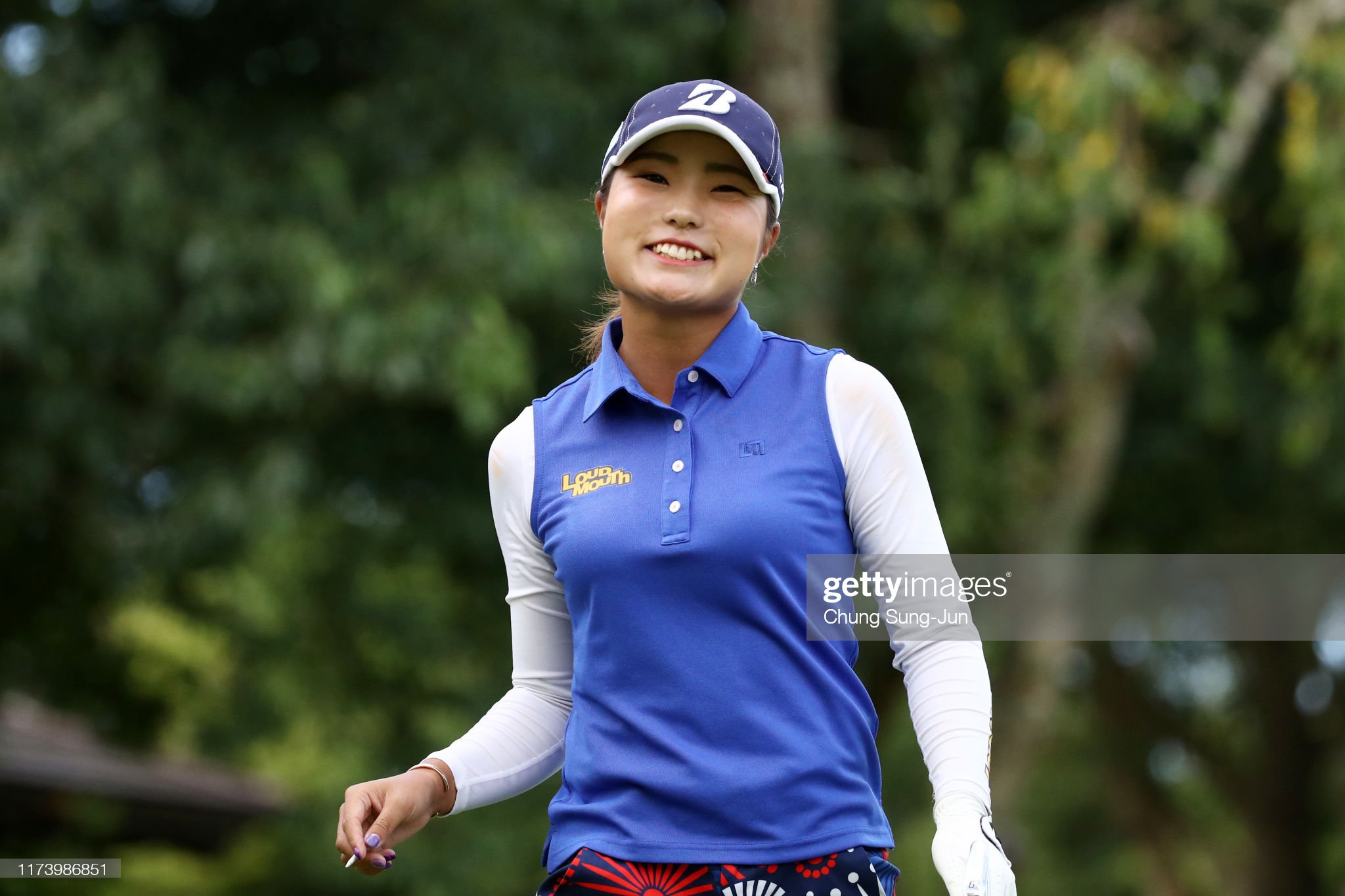 https://media.gettyimages.com/photos/sayaka-takahashi-of-japan-smiles-after-her-tee-shot-on-the-2nd-hole-picture-id1173986851?s=2048x2048