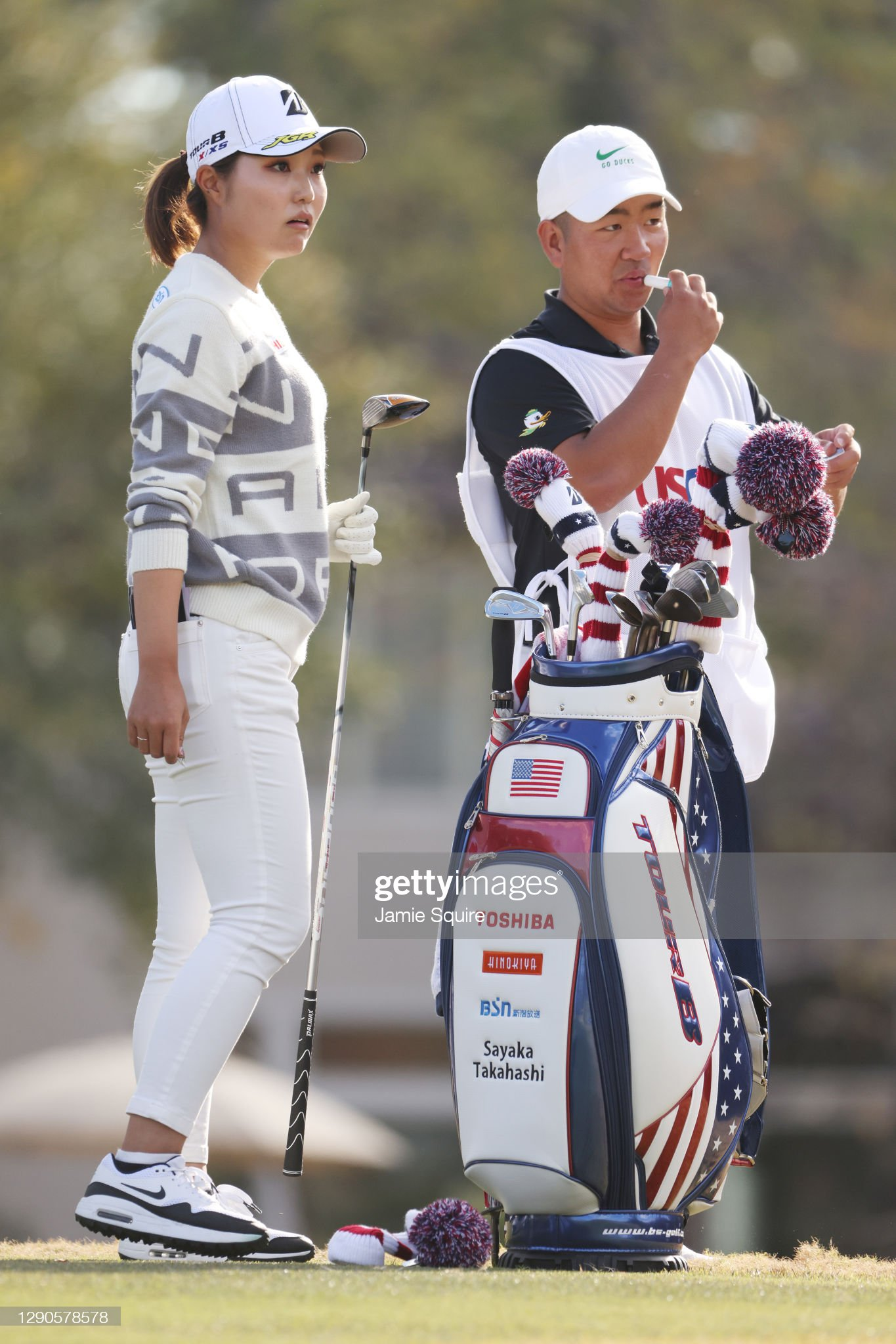 https://media.gettyimages.com/photos/sayaka-takahashi-of-japan-talks-with-her-caddie-on-the-12th-hole-the-picture-id1290578578?s=2048x2048