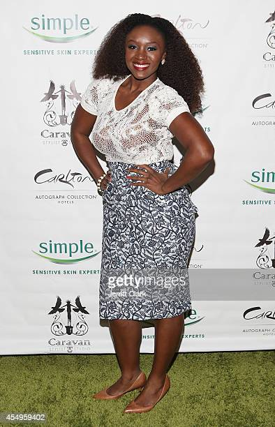 Saycon Sengbloh attends the Simple Skincare Caravan Stylist Studio Fashion Week Event on September 7 2014 in New York City
