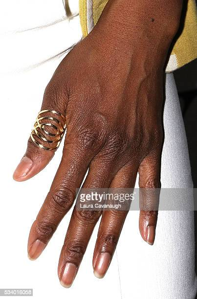 Saycon Sengbloh ring detail attends A Toast to The 2016 Tony Awards Creative Arts Nominees on May 24 2016 in New York City