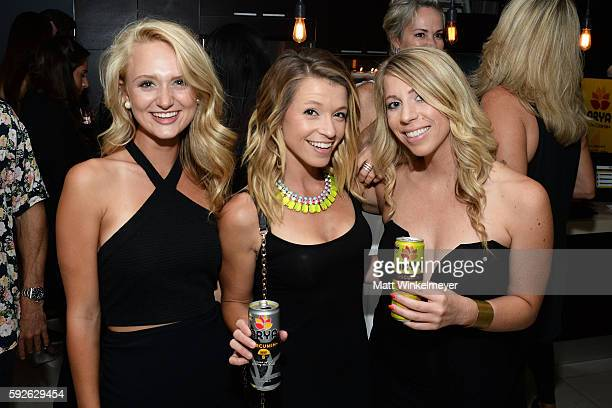 Saydee Dickinson Kerrya Corcoran and Trisha Byer attend ARYA Curcumin Presents The Yellow Social at Private Residence on August 20 2016 in Los...