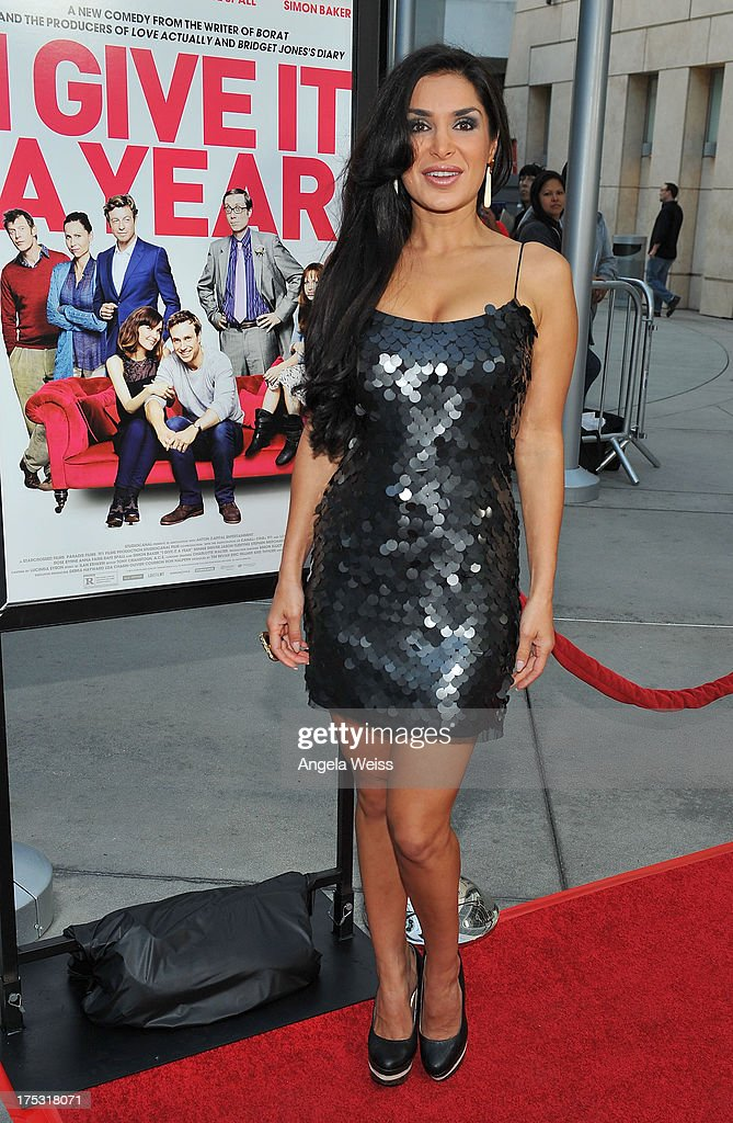Saye Yabandeh arrives at the Screening of Magnolia Pictures' 'I Give It A Year' at ArcLight Hollywood on August 1, 2013 in Hollywood, California.