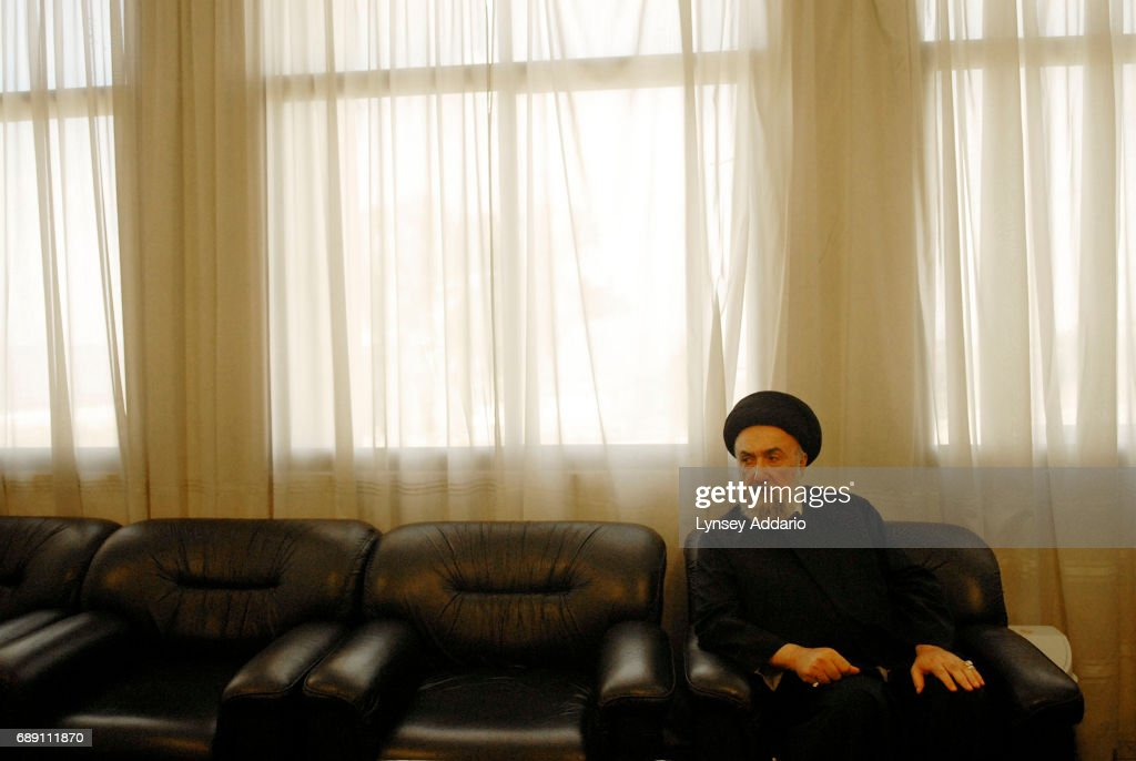 Sayed Ali Al Amin, The Mufti of Tyre, sits during an interview in his headquarters in Tyre, south Lebanon, August 30, 2006. Though there are Shiite critics of Hezbollah who have ben getting attention, they are not yet strong enough to mount a serious challenge to the powerful Shiite group.