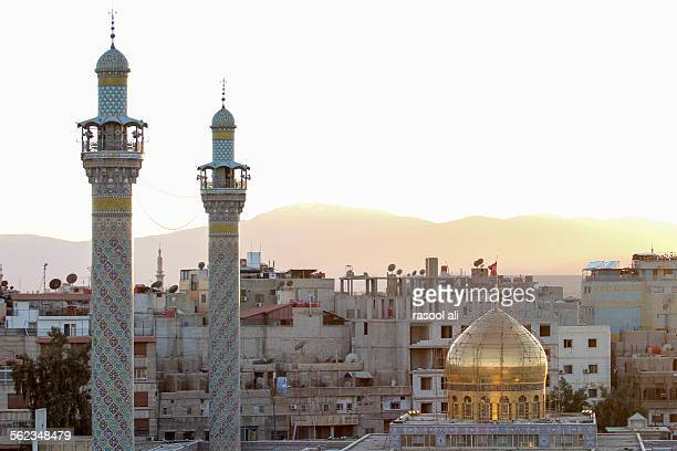 sayeda zeinab shrine in syria - shi'ite islam stock pictures, royalty-free photos & images