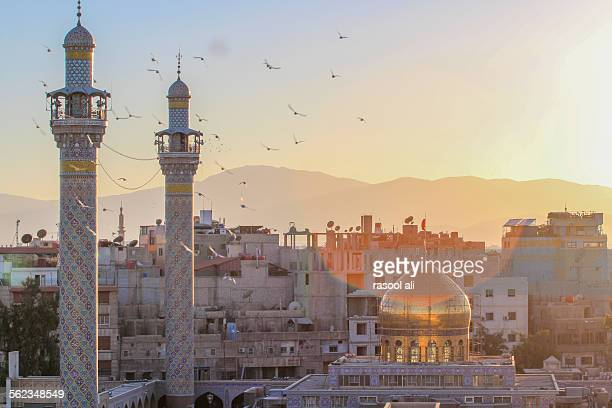 sayeda zeinab shrine in syria - syria stock pictures, royalty-free photos & images