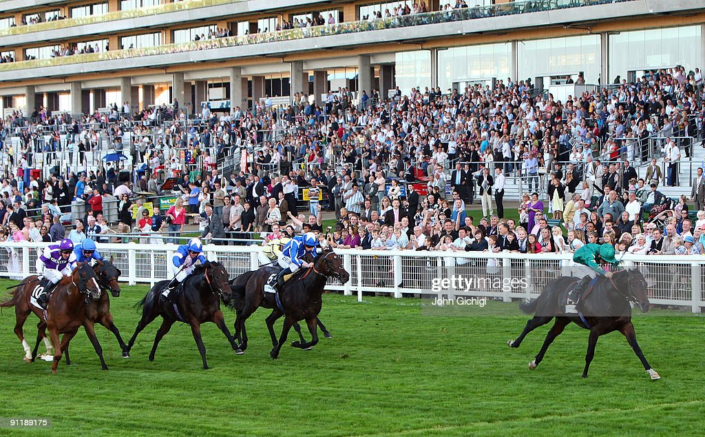 Sayif ridden by Richard Hills (R) wins The John Guest Diadem Stakes at Ascot Racecourse on September 27, 2009 in Ascot, England.