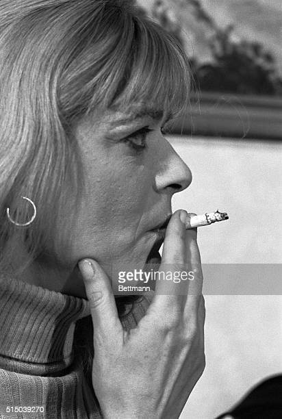 Says Life Endangered New York Actress Melina Mercouri reflects intense emotion as she tells newsmen that she was informed by 'federal officers' that...