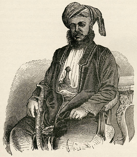 Sayyid Barghash Bin Said AlBusaid 1837 To 1888 Second Sultan Of Zanzibar East Africa From The World's Inhabitants By GT Bettany Published 1888