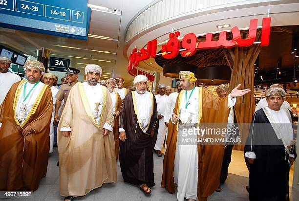Sayyid Shabib bin Taimur alSaid advisor to Oman's Sultan Qaboos for environmental affairs walks through the airport lounge as he attends the official...