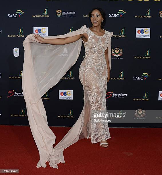 Sbahle Mpisane during the SA Sports Awards on November 27 2016 in Bloemfontein South Africa The 2016 SA Sport Awards recognise outstanding sporting...