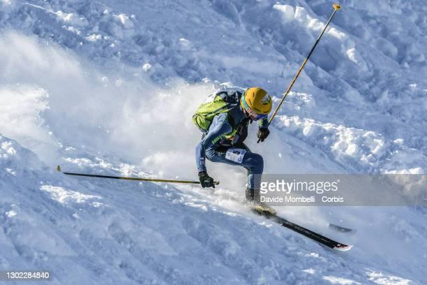 Sébastien Guichardaz in action during Italian Team Ski Mountaineering Championships on February 14, 2021 in ALBOSAGGIA, Italy.