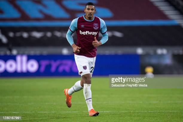 Sébastien Haller of West Ham United during the Premier League match between West Ham United and Crystal Palace at London Stadium on December 15, 2020...