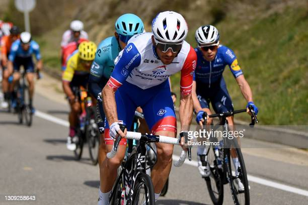 Sébastien Reichenbach of Switzerland and Team Groupama - FDJ during the 100th Volta Ciclista a Catalunya 2021, Stage 5 a 201,5km stage from La Pobla...