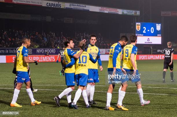 sc Cambuur celebrate the goal of Ricardo Kip of SC Cambuur during the Dutch Cup third round match between SC Cambuur Leeuwarden and GVVV at the...
