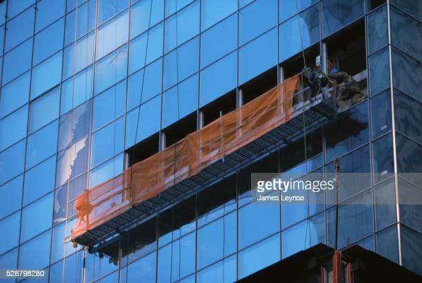 Scaffold on Commercial Building in New York