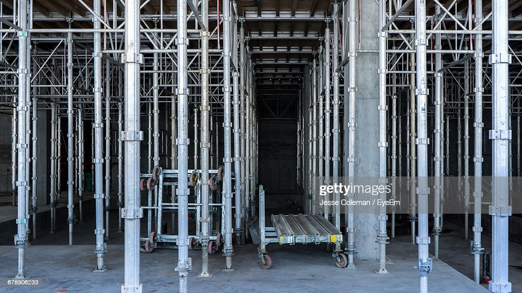 Scaffolding In Building : Stock Photo