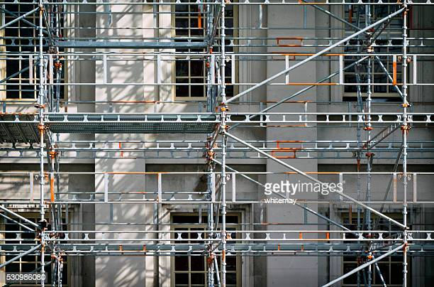 Scaffolding on a building
