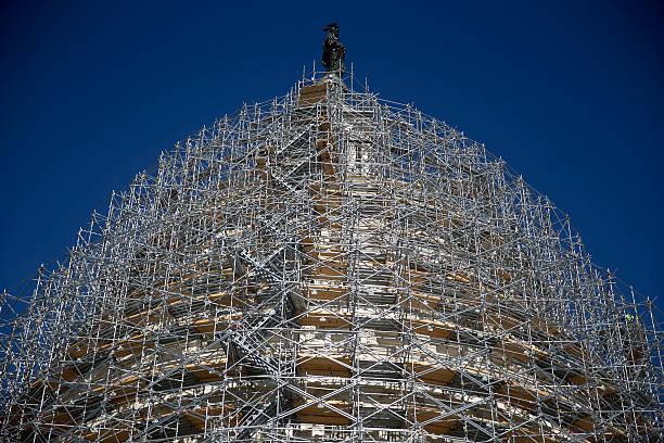 Capitol Building Scaffolding : U s capitol dome restoration project update news